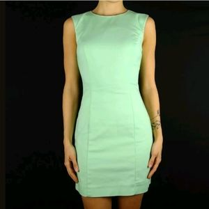 French Connection mint green mini sheath dress
